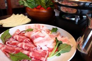 「イベリコ豚の出汁しゃぶ」盛付例(2名様分)写真